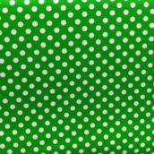 Lunares Blancos Fondo Verde