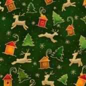 Seasons Greetings Reindeer / Tree Green